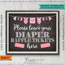 raffle sign diaper raffle ticket sign leave your raffle ticket here raffle