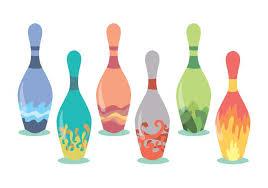 Decorated Bowling Pins Decorative Bowling Pins Vector Set Download Free Vector Art 45