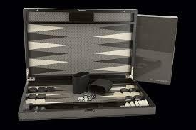 dal rossi italy carbon fibre finish backgammon 15