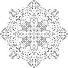 Kleurplaat Mandala Knopjes In Bloei Lente