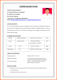 Cv For Job Application Filename Heegan Times