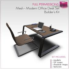modern office desk. Full Perm Mesh - Modern Office Desk Set O