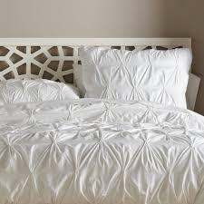 modern duvet covers organic cotton pintucked duvet cover white contemporary