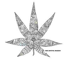 Sweet Leaf Adult Coloring Page By The Artful Maker Etsy