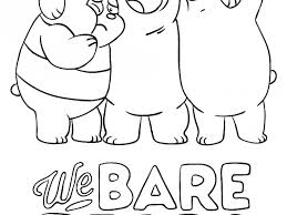 Cool We Bare Bears Printables Baby Free Cartoon Coloring Pages
