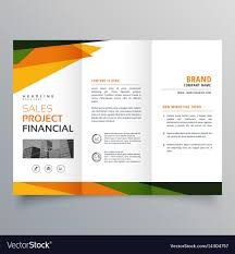 Presentation Trifold Trifold Brochure Template Presentation With Vector Image
