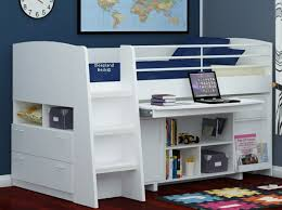 white cabin beds