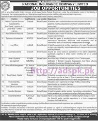new career jobs national insurance company limited nicl karachi new career jobs national insurance company limited nicl karachi jobs for graduates ll b ll