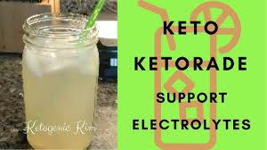 keto ketorade recipe electrolyte drink refreshment rer acv no salt ketogenic kim