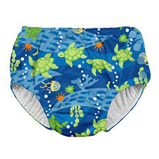 I Play By Green Sprouts Boys Snap Reusable Absorbent Swimsuit Diaper
