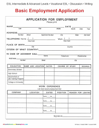 Simple Application Form Basic Job Application Form Revolutionary See Simple Employment 7