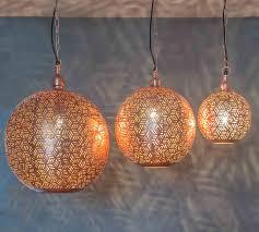 Moroccan Ceiling Light Uk Moroccan Pendant Lights Rabat Rose Gold
