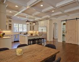 coffered ceiling lighting. Lighted Coffered Ceiling Kitchen Traditional With Pantry Hanging Pot Racks Lighting T