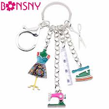 2019 <b>Bonsny Alloy</b> Sewing Machine Tools Scissor Flatiron Key ...