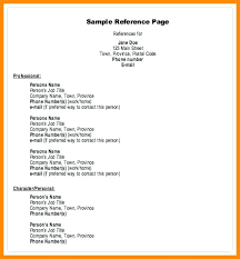 job reference examples of job references format on a resume reference 3 page for