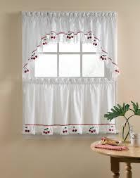 Red Kitchen Curtain Sets Fresh Cherries 5 Piece Kitchen Curtain Tier Set Curtainworkscom