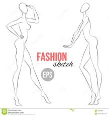 Clothes Design Sketch Model Women S Figure Sketch Different Poses Template For Drawing