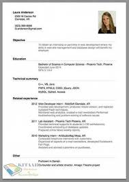 create a good resume