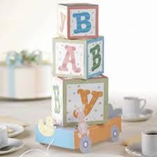 ABC Baby Block Centerpiece