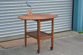 oval drop leaf table vintage solid oak tea cart trolley oval drop leaf table oval drop