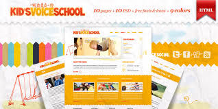 Kids School Website Template Kids Voice School Html Template