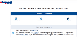 how to find hdfc customer id number 3