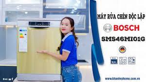 Review máy rửa chén Bosch serie 4 SMS46MI01G - YouTube