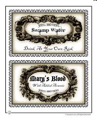 Halloween Labels To Print For Bottles And Potions