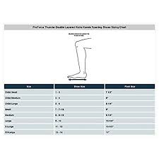 Proforce Sparring Gear Size Chart Pro Force Thunder Double Layered Kicks Karate Sparring Shoes