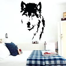 wolf wall decor wolf wall decals home decor removable vinyl wall art stickers pet decor