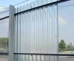sheet metal fence panels inspiring corrugated gate fencing simple ideas tucson