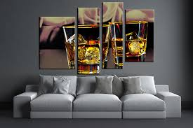 living room wall art 4 piece wall art yellow wine multi panel art  on 4 piece canvas wall art with 4 piece fire yellow wine glass canvas wall art