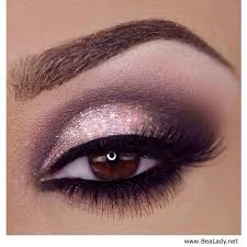 glittery pink eye makeup look