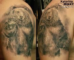 наколки медведя на плечо их значения ее значение с фото Tattoo