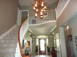 image of contemporary foyer chandeliers size