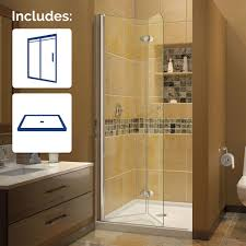 dreamline aqua fold 32 in x in frameless hinged frameless shower designs switchable privacy glass front