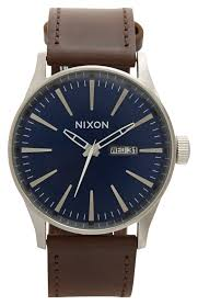 nixon the sentry leather strap watch 42mm nordstrom