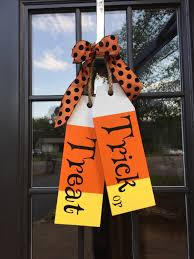 Large Wood Tags - Door Hanger - Trick or Treat - Hand Painted - Halloween  Decor