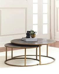 round nesting coffee table black