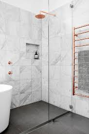 marble tile shower. Marble And Copper Shower More Tile Pinterest