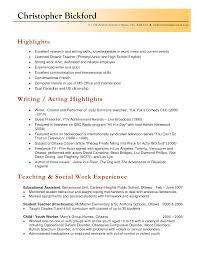 Teaching Job Resume Example Best Resume Templates
