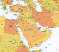 vector map middle east political high detail  one stop map