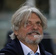 President of UC Sampdoria Massimo Ferrero looks on prior to the Serie...  Foto di attualità - Getty Images