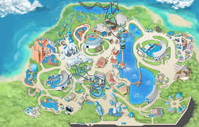 theme park  attractions map  seaworld orlando