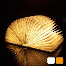 Mood Lamp Book Light Led Night Light Folding Book Light Usb Port Rechargeable