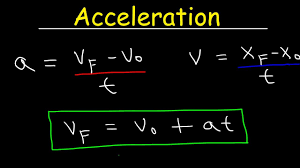 acceleration physics velocity one dimensional motion equations formulas examples and problems