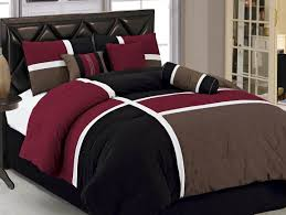 Chezmoi Collection (Full) Size Black, Brown and Burgundy Quilted Patchwork  Comforter, 7