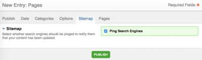 settings publish edit entry