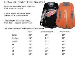 Hockey Jersey Size Conversion Chart Reebok Youth Jersey Size Chart Nhl Www Bedowntowndaytona Com