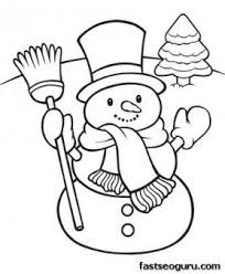 Small Picture Printable happy snowman Christmas coloring pages Printable